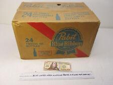 Pabst Blue Ribbon 00006000  Beer Bottle 24 x 12 oz Case Crate Vintage 60-70s Pbr Re-100-J