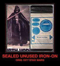 *SEALED Orig 1977 STAR WARS Darth Vader IV VIII UNUSED VTG t-shirt iron-on NOS