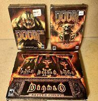 Diablo Battle Chest - Doom 3 - Lot of PC Games