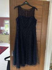 Evening dress Jessica Howard size 18/20 Navy Mesh With Diamante