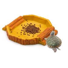 Pet Feeding Bowl Resin Rock Reptile Water Terrarium Turtle Gecko Lizard Feeding