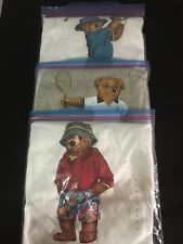 Mens Ralph Lauren Polo RL Teddy Bear T-Shirt set of 3  LTD-Large BNWT