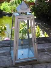 Laterne aus Stahlblech mit Glasscheiben - 47 cm hoch