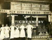 1910 Photo- New City Creamery, 41-47 S Halsted, Chicago, IL-Oldest Butter Store