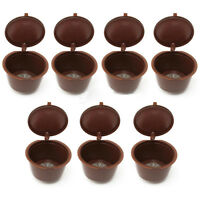 7x New Reusable Coffee Capsules Pods For Dolce Gusto Brewers Refill Cup Filters