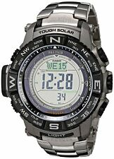 New Casio Protrek Tough Solar Triple Sensor Atomic Titanium Watch PRW3500T-7