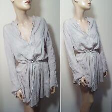🦄By Malene Birger Tellixa Size 36 8 10 Beige Cream Sheer Tunic Dress Top Shirt