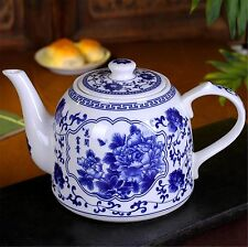 1.6L Handmade blue and white ceramic teapot large-capacity home insulated teapot