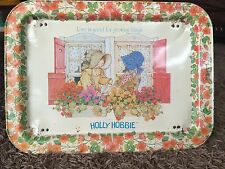 Vintage Holly Hobbie Tin TV Tray Original 1981 Love is good for growing things