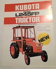 KUBOTA Diesel Compact Tractor L245FP 1982 Original Sales Advertising Brochure