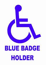 Blue Badge Holder-disabled Vinilo, pegatina de coche