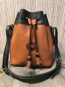 Authentic Vintage DOONEY & BOURKE Teton  Leather Drawstring Bucket Bag