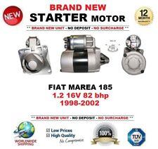 Per FIAT MAREA 185 1.2 16 V 82 BHP 1998-2002 Motore di Avviamento Nuovo di Zecca 0.9 KW 8 DENTI