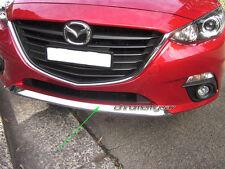 Chrome Front Lower Bumper Grille Garnish Trim Surround for Mazda 3 BM 2013-2016