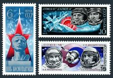 Russia 4309-4311,MNH.Michel 4342-4344. Cosmonauts Day 1975.Gagarin,Soyuz-Salyut.