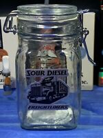 Sour Diesel Glass Latch Top Jar Apothecary Prescription Weed Smell Proof