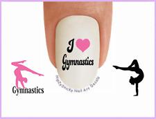 Nail Art #3084 SPORTS Gymnastics #4 Pink I Love WaterSlide Nail Decals Transfers