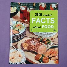 ta 2000 Useful Facts about Food 1969 Vintage Cookbook Booklet Pamphlet