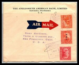 GP GOLDPATH: NICARAGUA COVER 1929 AIR MAIL _CV770_P10