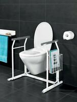 Disabled Toilet Frame Free Standing Mobility Bathroom Safety Aid magazine holder