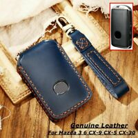 Genuine Leather Car Key Fob Case Cover Holder Bag For Mazda 3 6 CX30 CX4 CX5 CX9