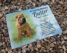 Shar Pei pet dog, In loving memory, Heastone gravestone memorial plaque