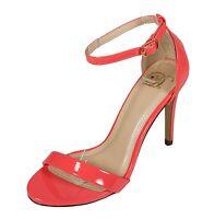 Delicious Women's Jaiden Open Toe Ankle Strap High Heel Sandals in  Salmon