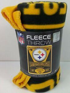 "NFL Pittsburgh Steelers Fleece Throw Blanket 50"" x 60""  Football NIP"