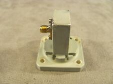 Waveguide 10 to 15 Ghz Ku-band Adapter WR75 to SMA Transition Cover Groove <364>