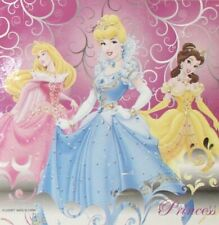 "Disney Princess Vinyl Shower Curtain Cinderella Belle Aurora 72""x72"""