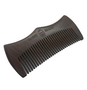 BUSHY BEARD - Moustache  Wooden Hair Comb Mens Birthday Gift Him Amoora Crown