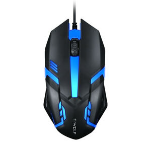 Game Mouse 7 Color Led Optical PC Game Mice USB Wired Laptop Computer UK Stock
