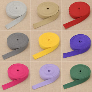 25MM Polyester Cotton Ribbon Backpack Strap Tapes DIY For Belt Bag Trimming Trim