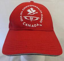 Canada Commonwealth Games baseball cap hat adjustable v maple leaf logo kukri
