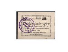 [10630] - NOTGELD GUTÓW, STADT, 50 FENYGÓW, 01.03.1920, J-2802, ungebraucht, (I-
