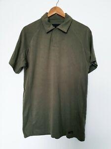 BNWT JEFF BANKS by DEBENHAMS khaki green polo collared T-Shirt top size S 216