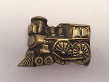 Scott Nelles Railroad Train Belt Buckle Rare Art Brass 70s Vintage