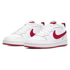 Niños Nike Court Borough Baja 2 (GS) entrenadores BQ5448 103 Blanco/Rojo Talla UK 4 _ 4.5 _ 5