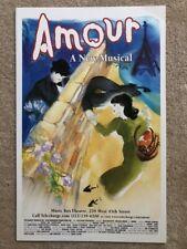 Amour - Michel Legrand - Broadway Window Card - Original