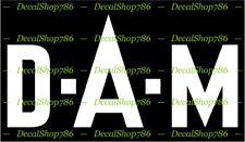 DAM Fishing Tackles - Rods/Lines/Accessories - Vinyl Die-Cut Peel N' Stick Decal