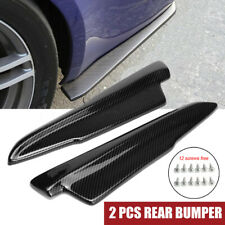 Carbon Look Universal Car Rear Bumper Lip Splitters Winglets Canards Aprons 42cm