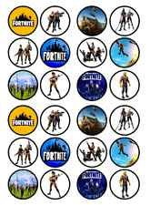 24 x Large Fortnite Edible Cupcake Toppers Birthday Party Cake Decoration