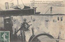 CPA 83 CATASTROPHE DU LATOUCHE TREVILLE INTERIEUR TOURELLE APRES EXPLOSION