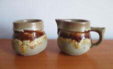 Laurentian Tundra Small Creamer Sugar Bowl Lava Drip Tan Yellow Retro 1970s