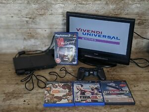Play Station 2 Slim Bundle Games and Controller