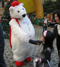 High quality Polar Bear Mascot Costume Halloween Christmas Party Dress