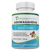 Ashwagandha With Black Pepper – 1300 mg, 60 Capsules - High Quality Ashwagandha