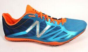 New Balance Men's Middle Distance 800 v2 Track Spike, Blue/Orange 13 D(M) US