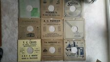19 EXCELLENT CONDITION 78 RPM RECORD CARD COVERS (NOT PAPER)