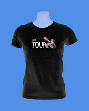 Girlie Damen T-Shirt On Tour Panzer love tank S M L schwarz move2be cool